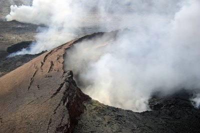 The most recent eruption has been happening since 1983.