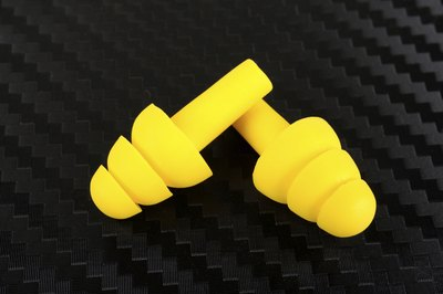 Yellow earplugs.