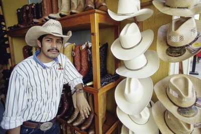 Cowboy hats on display