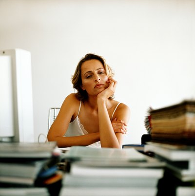 Woman having a slow day in the office