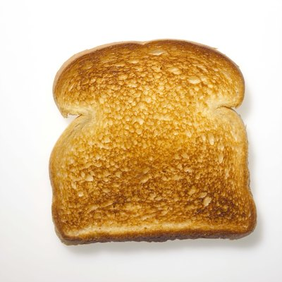A piece of white toast.