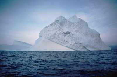Global warming is causing ice bergs to melt.