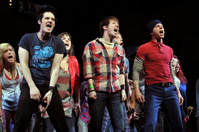 Broadway actors on stage