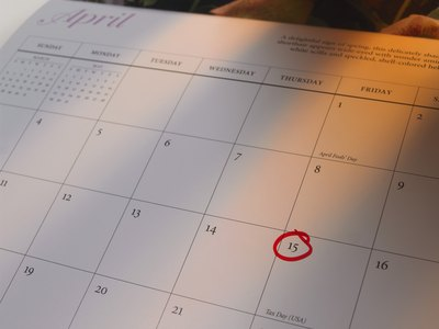 Calendar with circled date