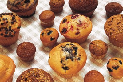 An assortment of muffins.