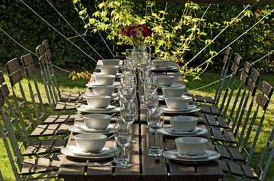 The backyard can be transformed into the perfect venue.