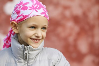 Young leukemia patient.