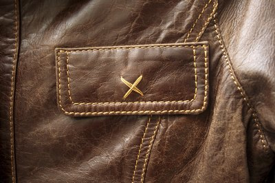 Detail of distressed leather