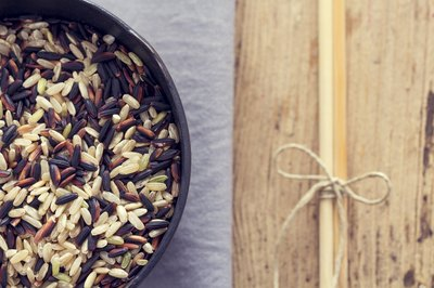 A large bowl of wild rice.