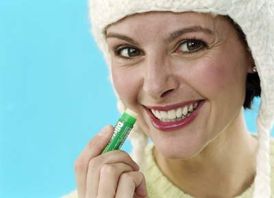 Woman with chapstick