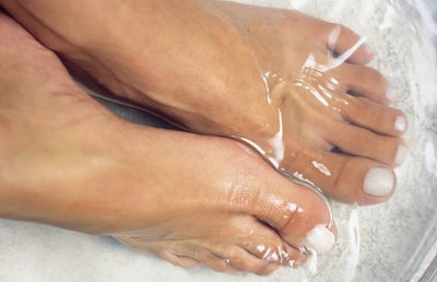 Soak your feet in cold water at the end of the day.
