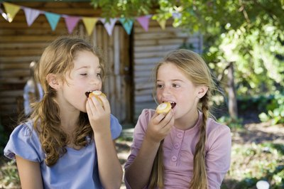 11-year-olds enjoy outdoor birthday parties.