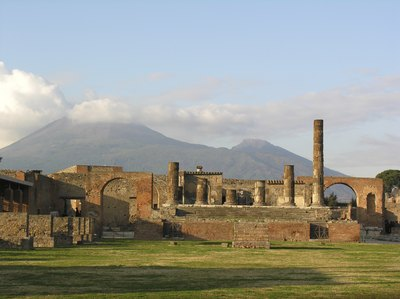 the ruins of Pompeii is one of Italy's many historical sites