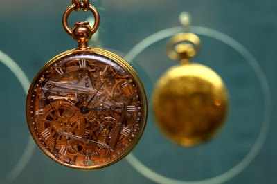 Gold and rock crystal pocket watch created by Abraham Breguet and belonged to French queen Marie Antoinette