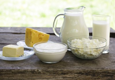 An assortment of dairy products