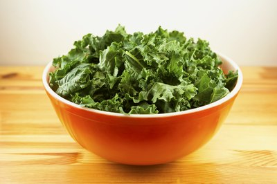 Kale is high in calcium.
