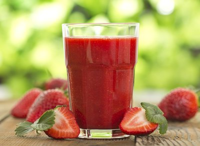 Fresh strawberry smoothie