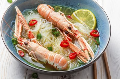 cooked shell fish in thai soup