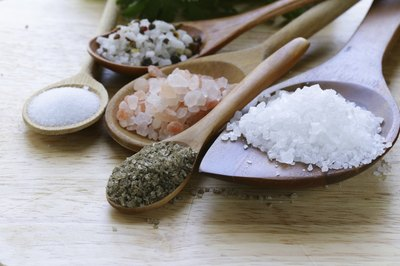 Sea salt contains the same amount of sodium as table salt.