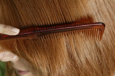 Comb your hair into at least three sections.