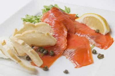Lox and smoked salmon are both favorites for an elegant brunch.