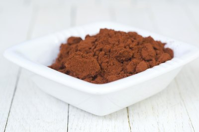 A bowl filled with cocoa powder