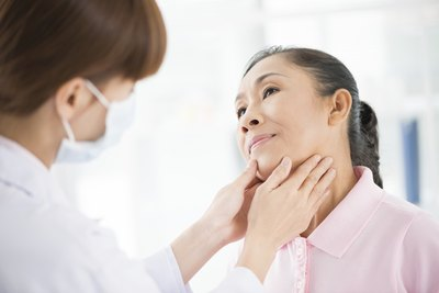 Treatment for people with thyroid tumors is usually removal of the entire gland.