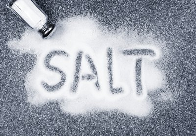 The sodium content of salt.