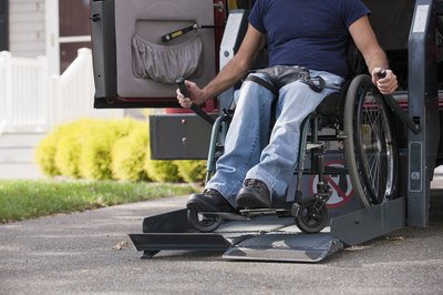 Purchase a wheelchair-accessible minivan from a reputable dealer and outfit it with GPS tracking.