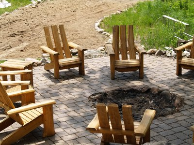 Fire pit at a vacation home in Minnesota