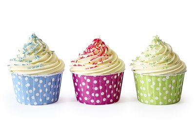 Colorful cupcakes.