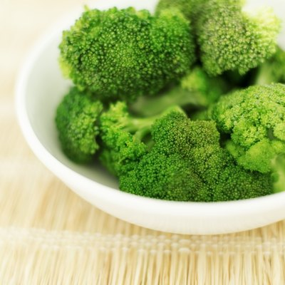 Fresh broccoli in a bowl.