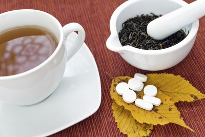 L-Theanine occurs naturally in the tea plant and is also available in pill form.