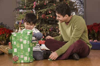 "Young children will enjoy ""Christmas Tree Dad""."