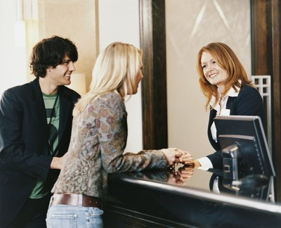 Make eye contact with customers and greet them with pleasantly.