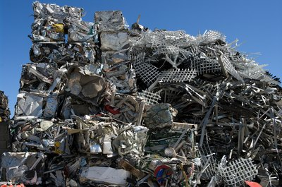Recycling scrap metal keeps it from cluttering up junkyards.