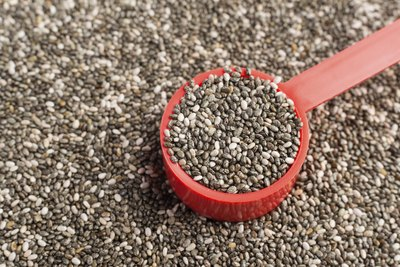 A close-up of chia seeds.