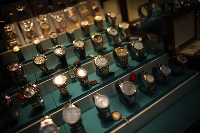 Rows of gold watches