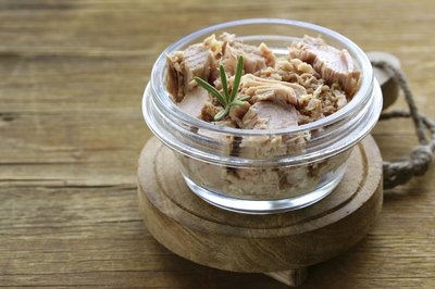 Small jar of tuna.