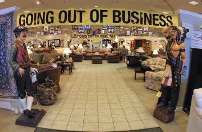 Furniture business closing sale