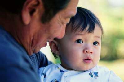 Close family will traditionally give a new Chinese baby boy an item in gold.