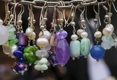 Assortment of handmade earrings