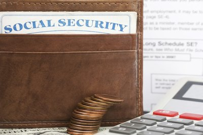 Social security card in wallet.