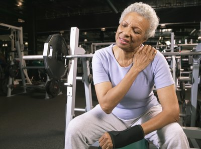 Weight training can cause upper arm pain