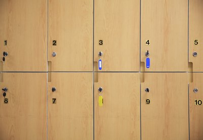 Wooden storage lockers