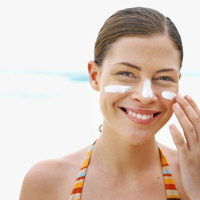 Wear sunscreen to prevent further skin damage.