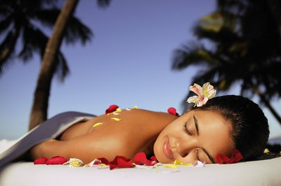 Hawaiian woman at spa