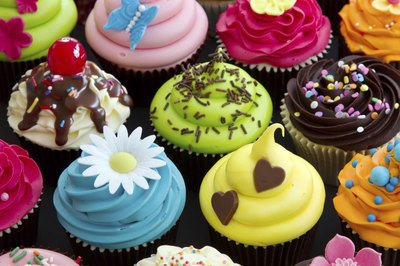 An assortment of cupcakes