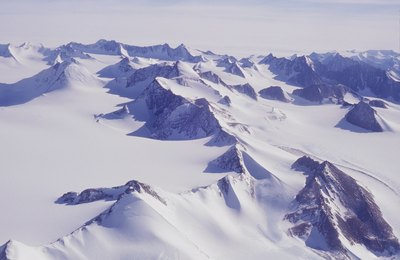 Aerial view over Antarctica