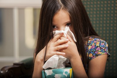 child with stuffy nose